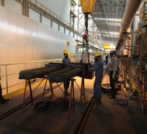 Disassembling and Assembling Radiant Tubes (ACL line ) at China Steel  Sumikin JS Company ( 140 sets )