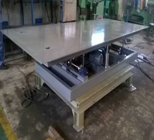 Manufacturing and Assembling Up Down Table for China Steel Sumikin Vietnam JS Company